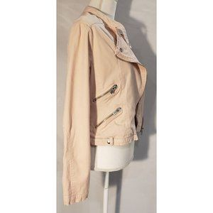 Maralyn and Me Pink Moto Jacket Size M